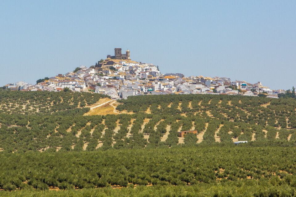 Panorama von Espejo, nahe Córdoba