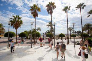 Strandpromenade in Marbella, Costa del Sol