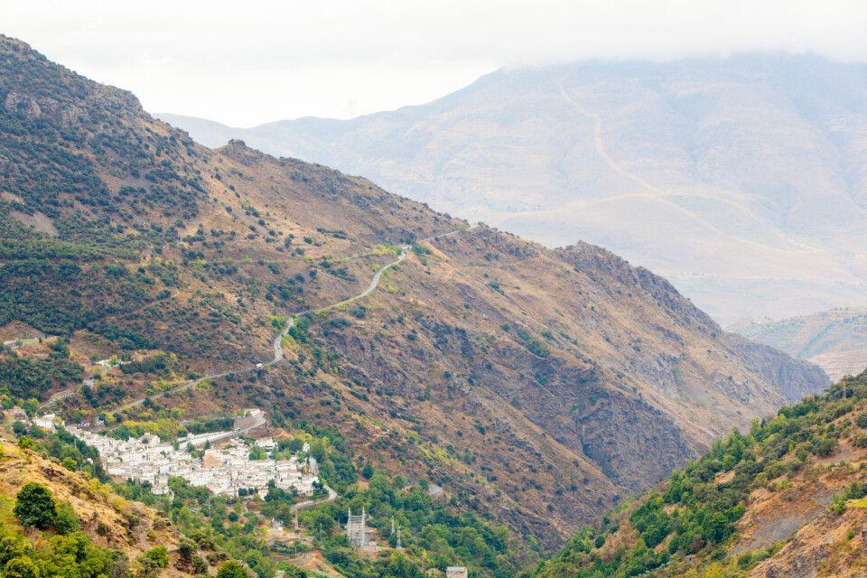 Panorama von Bubión in der Alpujarra, Sierra Nevada