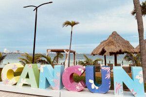 Am Sandstrand von Cancun die Seele baumeln lassen
