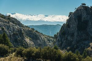 Blick über den Sierra Nevada Nationalpark, Andalusien