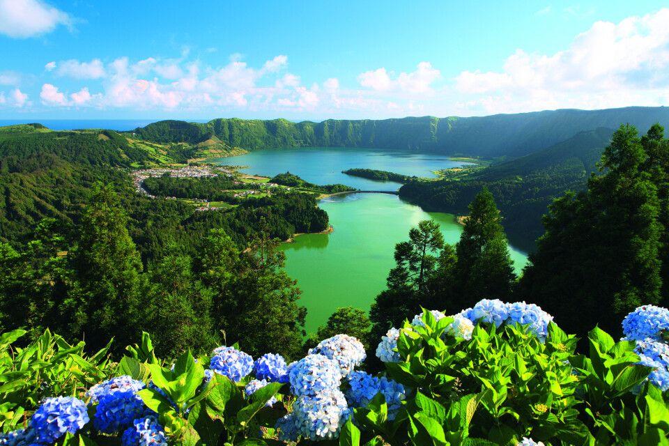 Blick auf den See von Sete Cidades, Insel Sao Miguel
