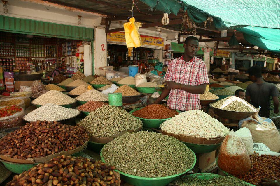 Lebensmittelmarkt in Omdurman