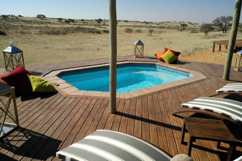 Camp während des Trans-Kalahari-Walk