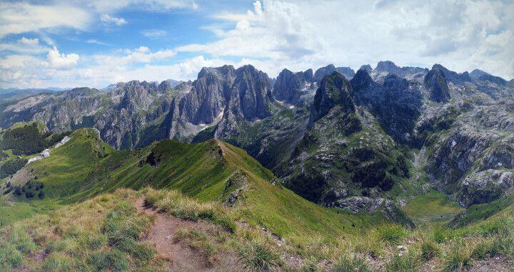 Bergpanorama in Albanien