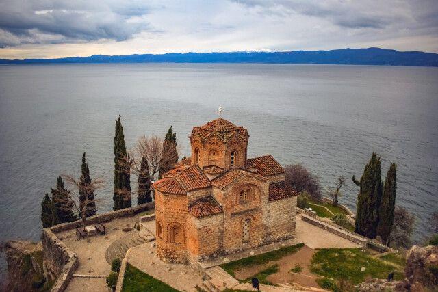 Kirche des Heiligen Johannes von Kaneo am Ohridsee