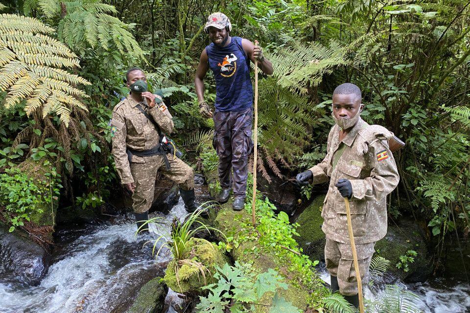 Ihr Team beim Gorilla Tracking