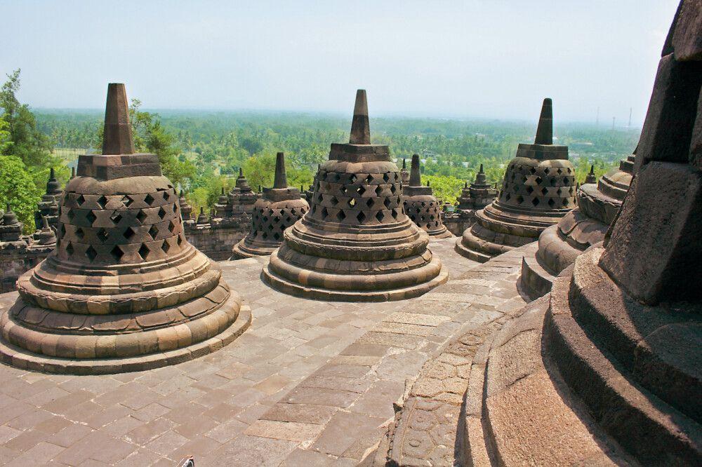 größte buddhistische Tempelanlage Südostasiens – Borobudur