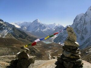 Abstieg vom Cho-La-Pass (5420 m)