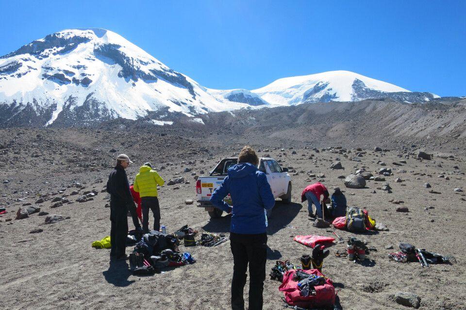 Ausgangspunkt der Besteigung des Coropuna auf 5200 m