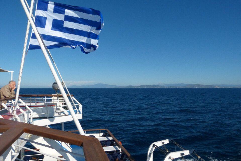Mit der Fähre zwischen den Griechischen Inseln unterwegs
