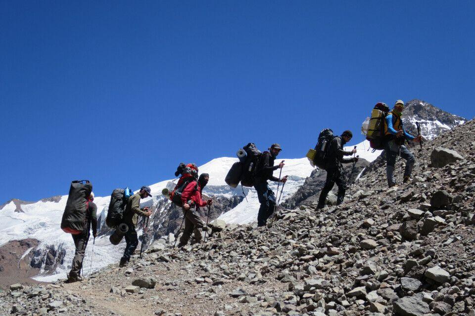 Aufstieg in das erste Hochlager am Aconcagua