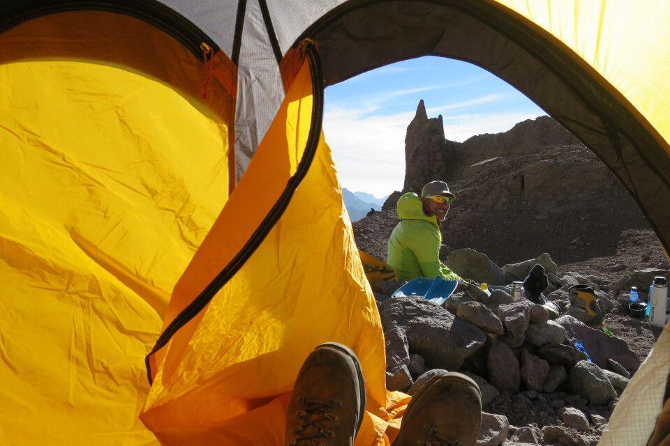 Hochlager-Leben am Aconcagua