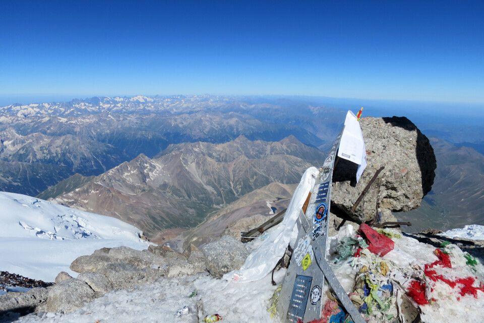 Höchster Punkt Europas, der Gipfel des Elbrus
