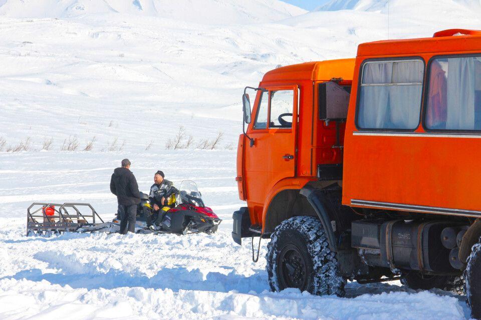 Kamaz im Winter auf Kamtschatka