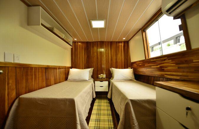 Kabine auf dem Hotelboot Barco Mutum (Zimmerbeispiel)