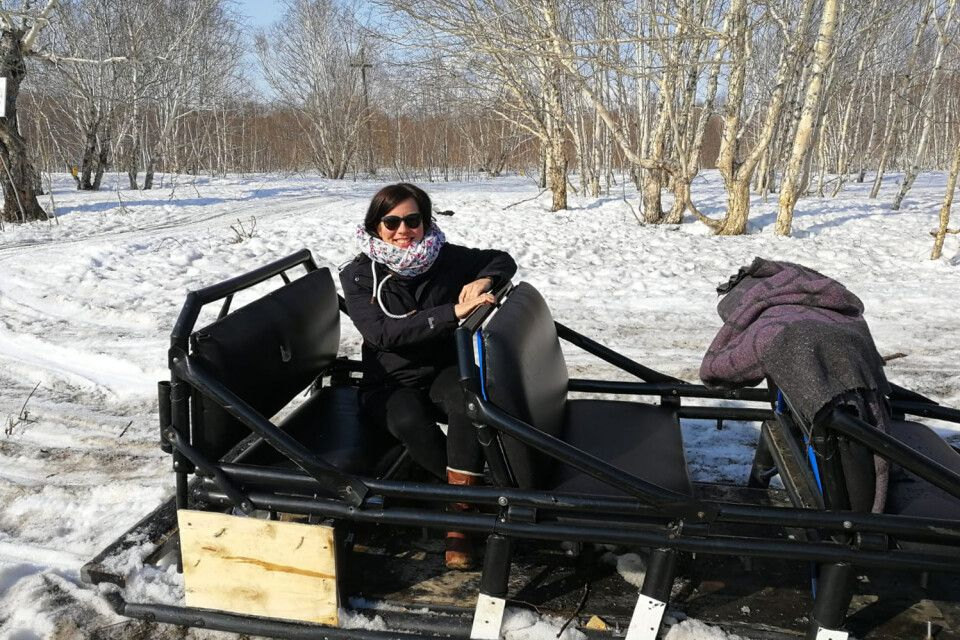 Motorschlittenfahrt auf Kamtschatka