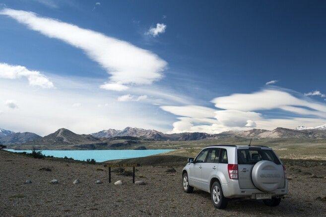 Mit dem Mietwagen im Nationalpark Perito Moreno