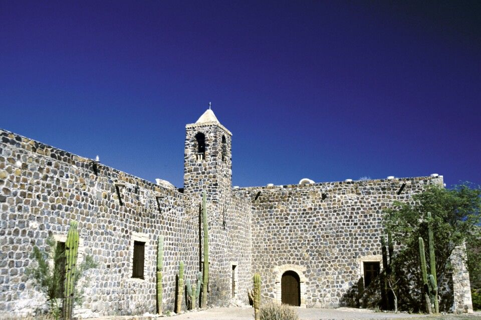 Mission in Mulege, Baja California, Mexiko