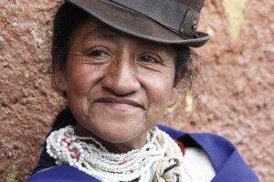 Guambiano-Frau auf dem Markt von Silvia