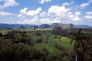 """Die """"Mogotes"""", die typischen Kegelkfelsen im Viñales-Tal"""