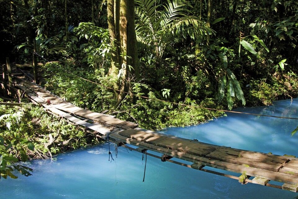 Brücke über den Rio Celeste