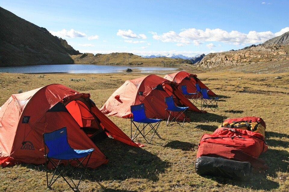 Zeltlager in der Cordillera Huayhuash