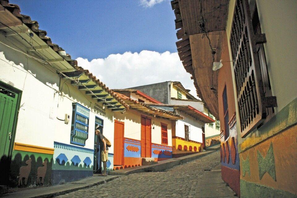 Bunte Straßenzüge in Bogota
