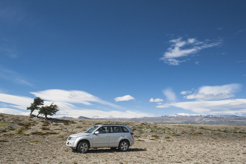 Mietwagen im Nationalpark Perito Moreno