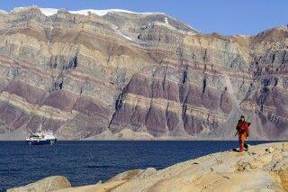 Das farbenprächtige Gestein ist ein tolles Fotomotiv