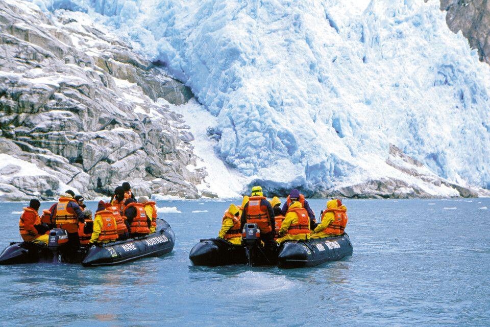 Zodiak-Ausflug am Pia-Gletscher, Stella Australis