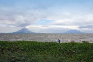 Lago Nicaragua mit der Insel Ometepe