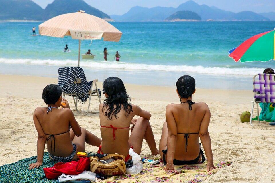 Am Strand in Rio de Janeiro