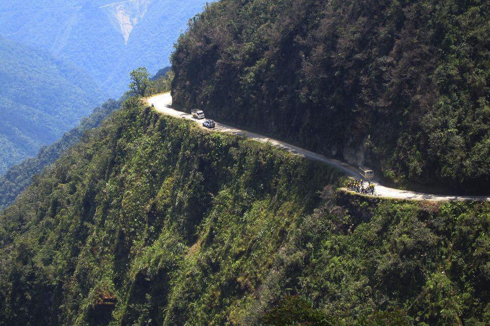 Yungas-Straße in Bolivien