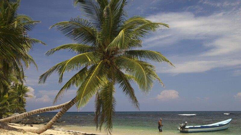 Traumstrand-Kulisse auf den San Blas Inseln © Diamir