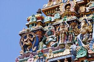mystische Atmosphäre im Sri-Minakshi-Tempel in Madurai
